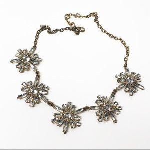 J. Crew Crystal Cluster Starburst Necklace